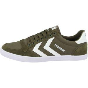 Hummel Slimmer Stadil Low Indoor Sneaker Schuhe grün/weiß 063512-6453, Schuhgröße:42 EU