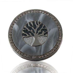 Broschen  Tuchhalter Magnetbrosche Lebensbaum Poncho Magnet Silber grau Strass 4,5cm  B23