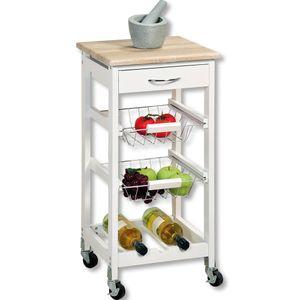Kesper Küchenwagen mit Schublade, weiß, 2581413