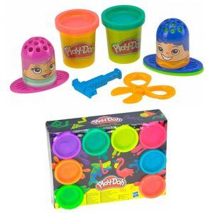 Play-Doh Kinder Knete Set Friseurspaß mit 8er Pack Neon Pack