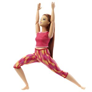 Barbie Made to Move Puppe (rothaarig) im roten Yoga Outfit