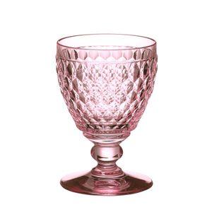 Villeroy & Boch Boston coloured Rotweinglas rose 4 Stück Nr. 1173090024 und 4er Set EKM Living Edelstahl Strohhalme