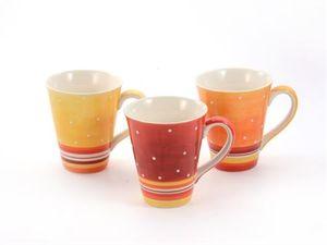 "Becher ""Tonia"" Keramik, 3 fach 0,3 l"