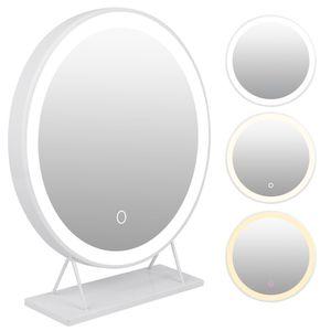 WYCTIN Kosmetikspiegel Schminkspiegel Mit LED Beleuchtung Make Up 50*50cm Dreifarbig dimmbar