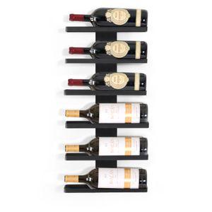 CAVEPRO: Metall-Wand-Weinregal für 6 Magnum-Flaschen