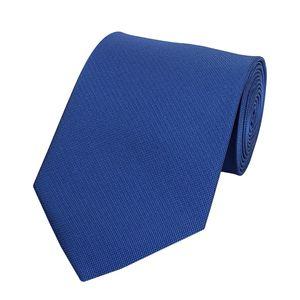 Schlips Krawatte Krawatten Binder 8cm blau uni feine Piquestruktur Fabio Farini