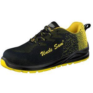 UNCLE SAM Sportlicher Herren Sicherheitsschuhe S1P, Grau/Gelb, Farbe:Gelb, Größe:46