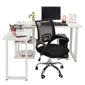 Curyu Bürostuhl Schreibtischstuhl ergonomischer Drehstuhl Chefsessel höhenverstellbar Sportsitz Mesh Netz Stuhl Schwarz