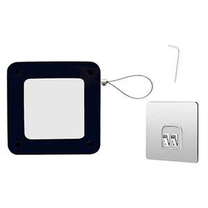 1PC Multifunktional Automatisch Türschließer Door Closer für Home Office Punch-Free - Schwarz und Weiß