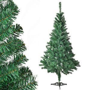 Juskys Weihnachtsbaum 150 cm künstlich mit Ständer – Tannenbaum naturgetreu - Deko Christbaum für Innen - Weihnachtsdeko grün