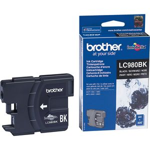 Brother LC-980BK Tintenpatrone - Schwarz - Tintenstrahl - 300 Seiten - 1er Pack