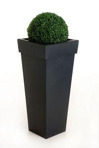 """Pflanzkübel Blumenkübel Zink """"Mega"""", Anthrazit - 35x35x70 cm (mit Bewässerungsset)"""