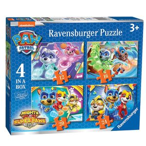 Ravensburger Kinder Puzzle 03029, Paw Patrol 4 Puzzles in a Box