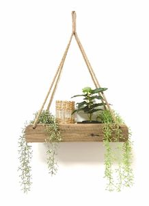 Hängeregal 58x16x10 cm - aus altem Holz - in Ziegelform - Modell: 2 Fächer