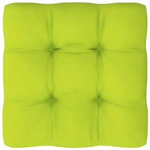 Palettenkissen Palettenauflage Sitzkissen Palettensofa Kissen Euro Polster Paletten Outdoor Hellgrün 50x50x12 cm