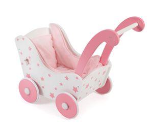 Holz-Puppenwagen, Stars Pink