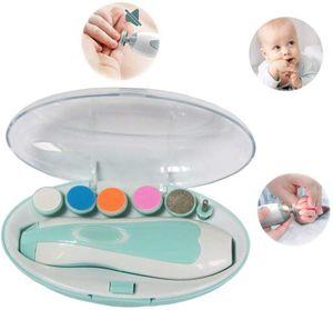 Sonstige Babyausstattung   Baby-Nagelschneider, Baby-Nägel, elektrische Nagelfeile, professioneller multifunktionaler Baby-Nagelschneider (für Neugeborene), Farbe: hellblauer Säuglingsnagelschneider Multifunktionaler Säuglingsnagelschneider