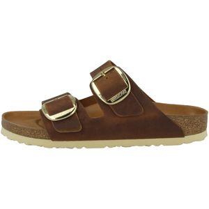 BIRKENSTOCK Arizoan Big Buckle Damen Pantoletten Antique Brown Schuhe, Größe:38
