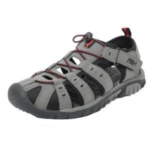 PDQ Herren Sandale / Trekking-Sandale DF555 (47 EU) (Grau/Rot)