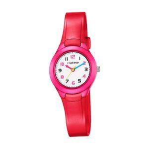 Calypso Kunststoff PolyurethanKinder Uhr K5749/3 Fashion Armbanduhr rot Junior D2UK5749/3