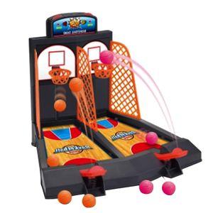 Tischplatte Mini-Basketball Korbwurf Spiel 2 Spieler Korbwurf Basketballspiel mit Scoring Gerät für die Kinder