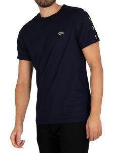 Lacoste Herren Logo Tape Sleeve T-Shirt, Blau M