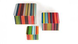Remember Blechdosenset Stripes Weißblech  - Remember, Muster:stripes