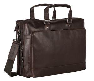 LEONHARD HEYDEN Dakota Zipped Briefcase 2 Compartments Brown