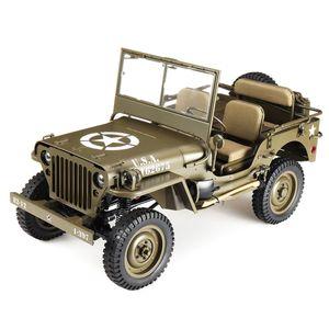 ROCHOBBY FMS RC Car, 1: 6 1941 MB Scaler RC Car Wasserdichtes militärisches Offroad-Automodell, 2.4G Fernbedienung WWII Offroad-Auto Spielzeuggeschenk für Jungen und Erwachsene