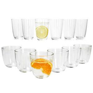 12-tlg. Gläser Set Iris: 6x Longdrink + 6x Wasser-Gläser Trink-Glas Whisky Saft