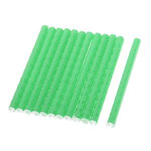12 Stück Fahrradspeichenreflektoren Grün 7,3 x 0,5 cm