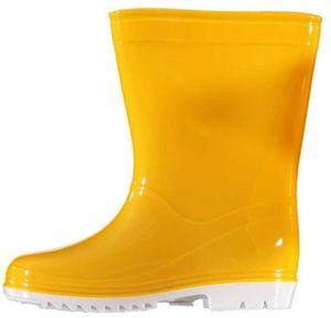 regenstiefel Junior halbhoch Gummi gelb Größe 24