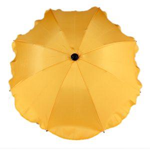 BAMBINIWELT Sonnenschirm für Kinderwagen Ø68cm UV-Schutz50+ Schirm Sonnensegel Sonnenschutz, gelb