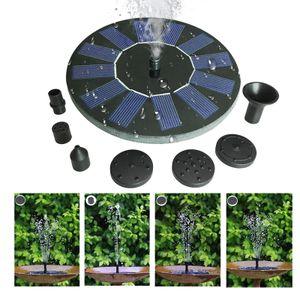 Wasserspielbrunnen Solarwasserpumpenteich Wasserpumpenbrunnen Springbrunnengarten mit 5 verschiedenen Sprinklern, Gartendekoration