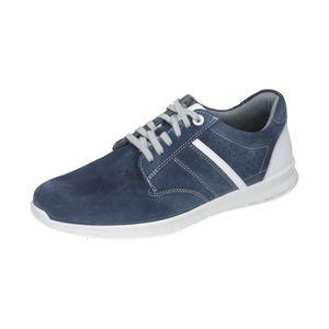 Comfortabel Schnürschuh blau Weite H große Größen, Dt. Schuhgrößen:45