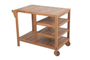 Garden Pleasure Teewagen Akazie Holz Servierwagen Küchenwagen Theke Bar Tisch