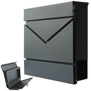 Modern Briefkasten Wandbriefkasten Postkasten Zeitungsrolle Zeitungsfach Anthrazit V2Aox