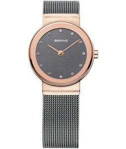 BERING Classic Damenuhr grau/roségoldfarben 10126-369
