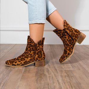 Damen Damen Herbstschuhe Mode Square Heels Knöchel Einzelschuhe Kurze Stiefel Größe:38,Farbe:Braun