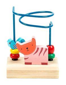 Motorikschleife Mini von Marionette für Kleinkinder, Design Zoo, bunt, 10 x 7,5 x 14 cm, Tiger