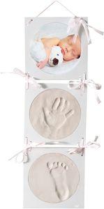 Bieco Abdruckbild Komplettset, Gipsabdruck Baby Hand und Fuß   3D Bilderrahmen   Baby Abdruckset   Gibsabdruckset Baby Hand und Fuß   Bilder Set mit Rahmen   Gibsabdruckset Hände   Fußabdruck Baby