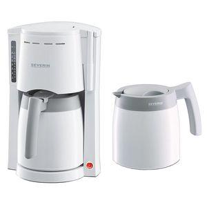 SEVERIN KA 9233 Kaffeeautomat Kaffeemaschine Filterkaffee + 2 Thermokannen weiß