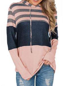 Damen Casual Loose Langarm Hoodie Sweatshirt Top,Farbe: Pink,Größe:XL
