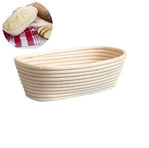 Gärkörbchen – Der ideale Gärkorb für Brotteig aus natürlichem Peddigrohr (oval | Ø 25 cm)