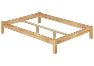 Doppelbett Futonbett ohne Kopfteil 200x200 Buche Massivholz wählbares Zubehör V-60.84-20, Ausstattung:ohne Zubehör