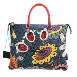 Gabs G3 Super Convertible Shopping Bag M Perline Con Righe