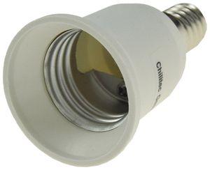 ChiliTec Lampensockel-Adapter, Kunststoff E14 auf E27