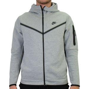 Nike Tech Fleece Hoodie Jacke Herren Fleecejacke Grau (CU4489 063) Größe: M