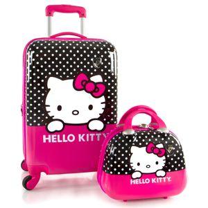 Heys  Kids Hello Kitty Kindertrolley 53 cm  und Beauty Case  4 Rollen 33,8 l - Bunt