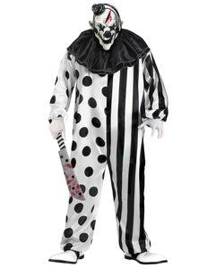 Halloween Horror Clown Kostüm mit Maske